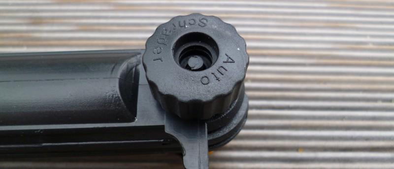 Fahrradpumpe für Autoventile