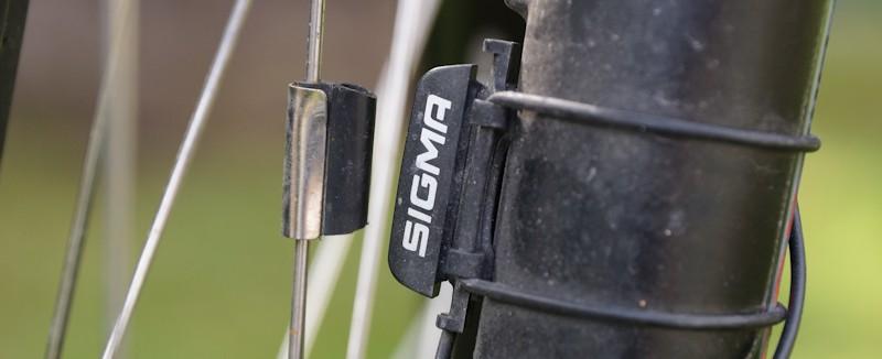 Fahrradtacho Sensor am Vorderrad
