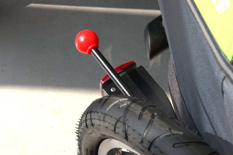 Bremshebel von einer Bremse am Anhänger