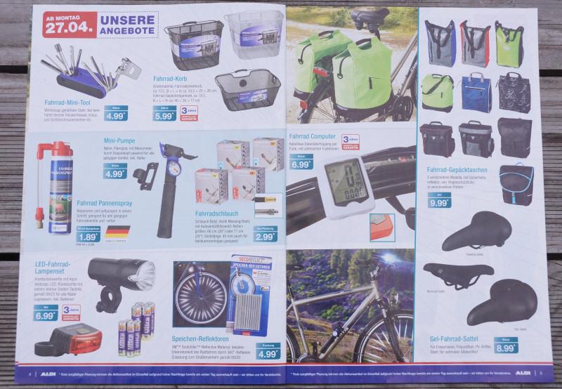 Aldi Fahrrad Angebote im Prospekt