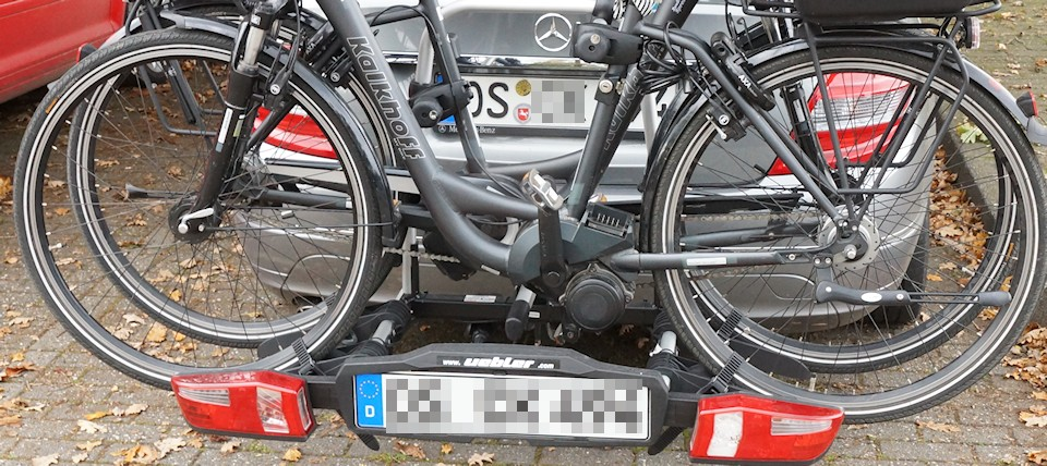 E-Bike Test - E-Bike auf einem Fahrradträger
