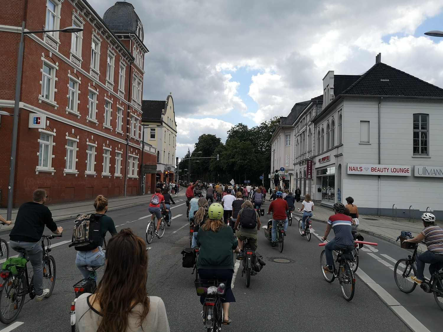 Fahrraddemo in Oldenburg